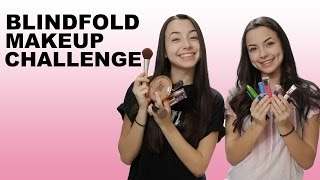 Download BLINDFOLD MAKEUP CHALLENGE - Merrell Twins Video