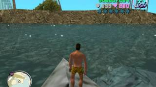 Download GTA Vice City - Walking on water with a swimming outfit (MODS) Video