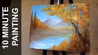 Download Painting a Autumn Forest Landscape with Acrylics in 10 Minutes Video