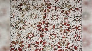 Download Мотив крючком. Скатерть из мотивов. Сrochet motif. Tablecloth motifs Video