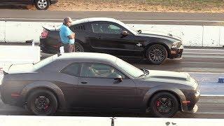 Download Dodge Demon vs Shelby GT500 - drag race Video