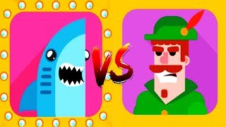 Download Bowmasters - Gameplay Walkthrough 14 Epic Wins - New Characters SHARK Vs ROBIN Video