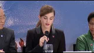 Download Emma Watson Speech for HeForShe IMPACT 10x10x10 Program at World Economic Forum 2015 Video