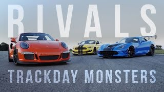 Download Rivals: Ford Mustang GT350R vs. Dodge Viper ACR vs. Porsche GT3 RS Video