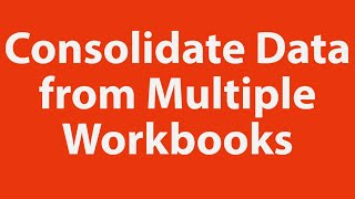Download Consolidate Data from Multiple Excel Workbooks using VBA Video