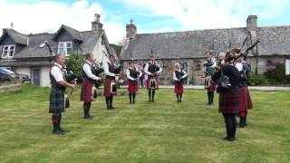 Download Braemar Piping Association outside St Margarets, Braemar, Scotland, July 2017 Video
