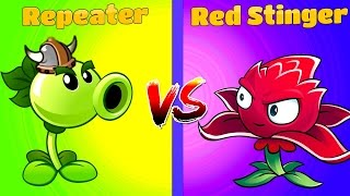 Download Plants vs Zombies 2 REPEATER vs RED STINGER Video