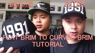Download How To Turn Flat Brim Hats Into Curved Brim Hats (Easiest and Fastest Way) Video