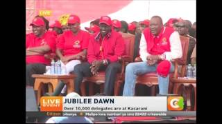 Download Young Ryan moves crowd at Jubilee Party launch, Kasarani Video