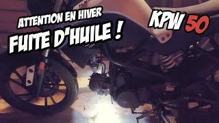 Download Kymco K-PW 50 Problème de Fuite d'huile ? ATTENTION EN HIVER ! Video