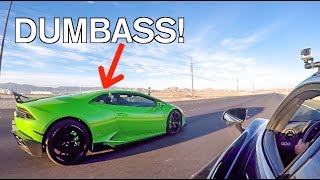 Download COCKY Lamborghini Gets DESTROYED By A Stock Mclaren LOL! Video