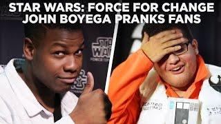 Download John Boyega Pranks Star Wars Fans with Surprise Photobomb at Celebration   Force For Change Video