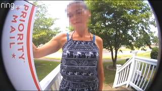 Download Package Thief caught on Camera by the Ring. Video