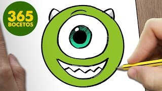 Download COMO DIBUJAR MIKE WAZOWSKI EMOTICONOS WHATSAPP KAWAII PASO A PASO - Dibujos kawaii fáciles Video