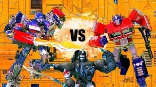 Download Transformers: Optimus VS Prime VS Optimus Primal!! Feat. EpicVoiceGuy | Toy Battle Stop Motion | Video