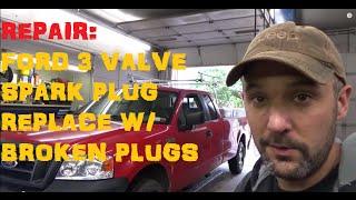 Download Ford F Series 5.4 3 Valve: Broken Spark Plug Removal Video