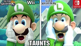 Download Smash Bros Taunts Comparison (Wii U VS Ultimate - Graphics, Voice, Taunt Changes & MORE!) Video