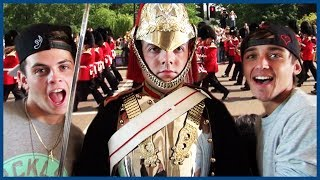 Download Janoskians Try to Make London Guards Laugh - European Vacation Ep 2 Video