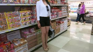 Download Sexy Girl Wears Extreme High Heels Shopping at Japanese Supermarket Video