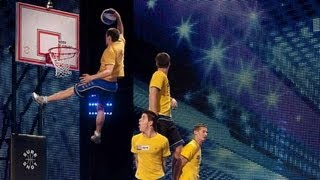 Download Face Team basketball acrobatics - Britain's Got Talent 2012 audition - International version Video