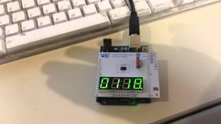 Download VL6180X Demo Shield Running on Arduino Uno Video