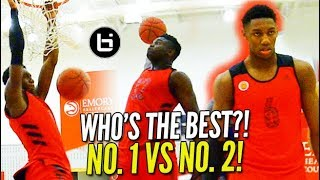Download ″ 1 ON 1″ to PROVE WHO'S BEST?! Zion Williamson vs RJ Barrett HIGHLIGHT MCDAAG Day 2 Practice! Video