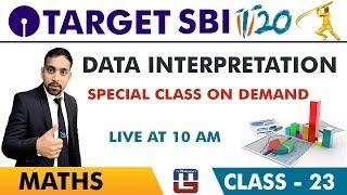 Download SBI Clerk Prelims 2018 | Data Interpretation | Maths Session | Live At 10 am | Class-23 Video