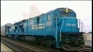 Download Conrail Freight & Auto Rack Train In 1991 Video
