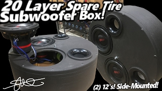 Download ″20 Layer″ Side Mounted Spare Tire Box Sprayed & Played 2 12″ SMD Mini Subwoofers BASS Propulsion! Video