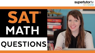 Download Two SAT Math Questions Video