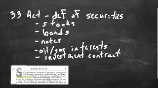 Download Saylor.org BUS205: ″Federal Securities Regulation in the United States″ Video