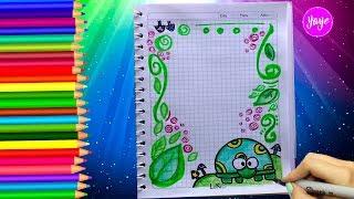 Download ❤️ IDEAS PARA MARCAR CUADERNOS FÁCILES 💚 Cómo dibujar márgenes - Dibujos para niños ⭐ Yaye Video