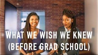 Download WHAT WE WISH WE KNEW BEFORE GRAD SCHOOL | PHD ADVICE | SCHOLAR NOIRE Video