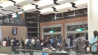 Download Air traffic controllers strike at new Senegal Airport, want more training Video