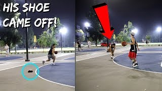 Download FAKE SO HARD HE LOST HIS SHOE!! HOOPING AT ALMANSOR PARK! Video