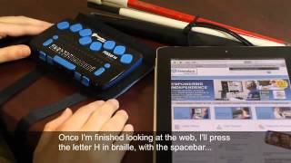 Download Using the Focus 14 Blue Refreshable Braille Display with iOS Devices Video