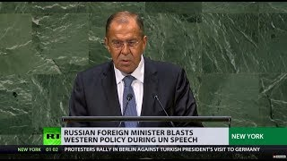 Download 'Lavrov's patience tested one time too many': Russian FM blasts Western policy in UN speech Video
