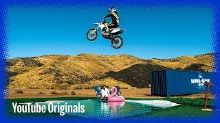 Download Bike on Water in Slow Mo Video