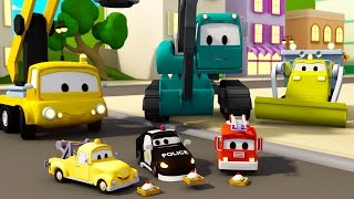 Download Construction Squad: the Dump Truck, the Crane and the Excavator build The waffle factory in Car City Video
