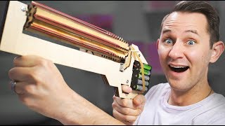 Download Rubber Band Machine Gun? | 10 Strange Projectile Weapons Video