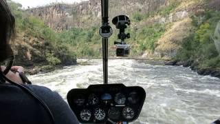 Download Victoria falls flight down gorge in helicopter, Apr 2017 Video