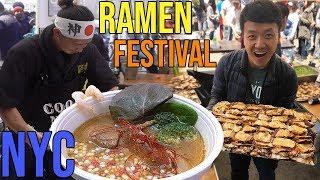 Download SEVEN Bowls of RAMEN Noodles in ONE Day Ramen Festival in New York Video