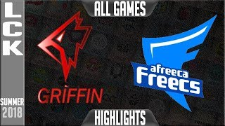 Download AFS vs GRF Highlights ALL GAMES | LCK Playoffs Semi-final Summer 2018 | Afreeca Freecs vs Griffin Video