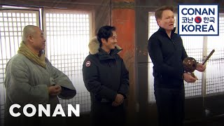 Download Conan & Steven Yeun Visit A Buddhist Temple Video