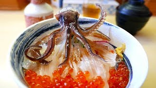 Download Japanese Street Food - DANCING SQUID SASHIMI Hakodate Japan Seafood Video