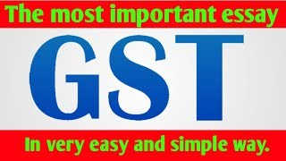 Download Essay on GST | the most important essay for Board exams Video