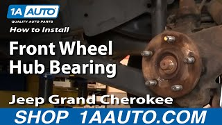Download How To Install Replace Front Wheel Hub Bearing Jeep Grand Cherokee 99-04 PART 1 1AAuto Video