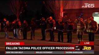 Download Procession for police officer shot and killed in Tacoma (Wed 11/30/16 11pm) Video