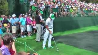 Download Bubba Watson and Rickie Fowler practising on the 16th at the Masters 2013. Video