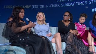 Download A Wrinkle in Time European Premiere Q&A - Oprah Winfrey, Reese Witherspoon, Mindy Kaling, Storm Reid Video